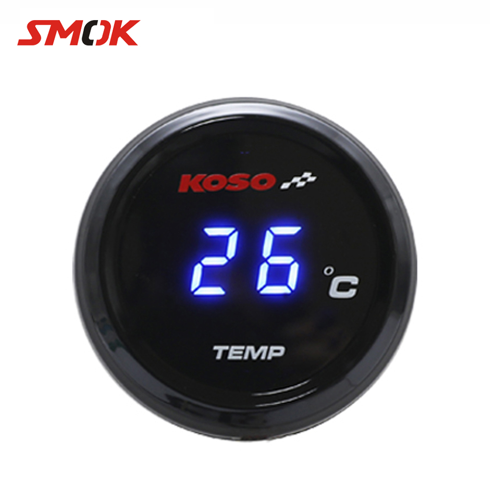 SMOK Universal Motorcycle Thermometer Instruments Water Temp Temperature Digital Display Gauge Meter For KOSO <font><b>Xmax</b></font> 300 250 125 image