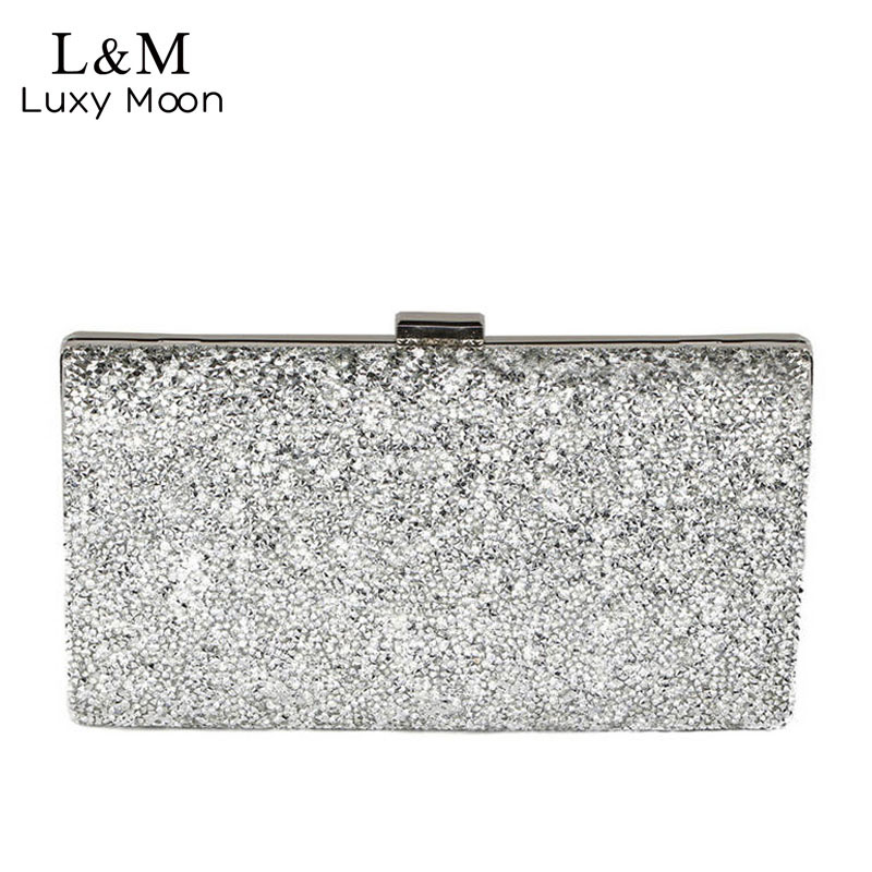 Women Day Clutch Rhinestone Party Chain Hand Bag Ladies Crystal Evening Bags Dressed Long Purse Black Gold Silver Glitter XA48H luxury designer gold clutches flap women evening bags long chain tassel shoulder bag wedding party rhinestone clutch purse l897