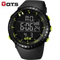 OTS Dial Grande Hombres Digital Relojes Deportivos Correr Cronómetro 50 m Impermeable Militar Led Electrónica Relojes Cuarzo de Los Hombres 2018 Regalo