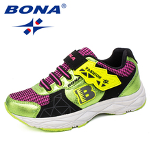 BONA New Fashion Style Children Casual Shoes Outdoor Jogging Sneakers Boys Running Shoes Girls Sport Shoes Fast Free Shipping цены онлайн