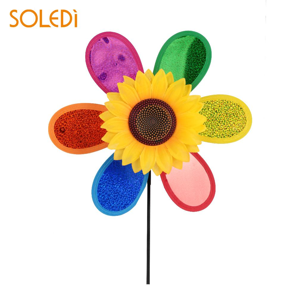 Hand Pressure Spray Mini Fan Handheld Cooling Water Spray Sunflower Outdoor Windmill Toy,Random Color,Us