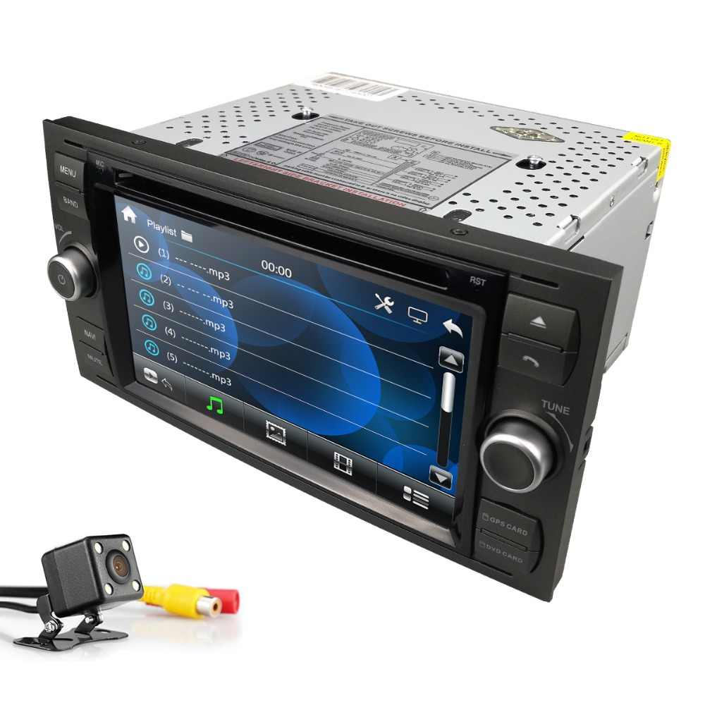 2din car autoradio 7 inch dvd monitor for Ford focus/Fiesta/Kuga/C-Max/Connect/Fusion/Galaxy/Mondeo/S-Max/Transit swc rds bt cam