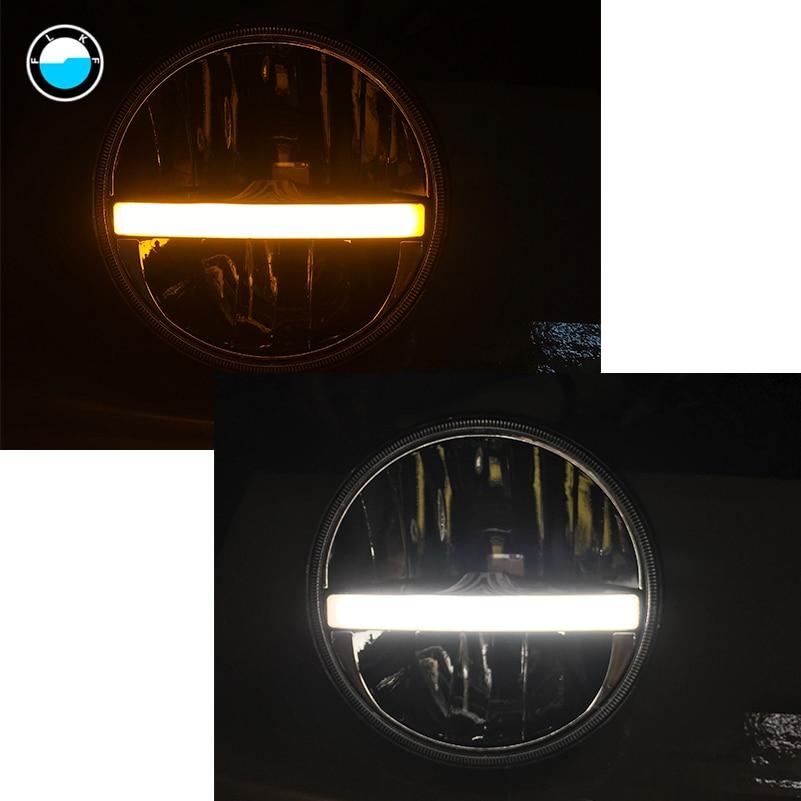 7 Inch LED Headlight DRL High Low Beam Turn Signal For Jeep Wrangler JK CJ