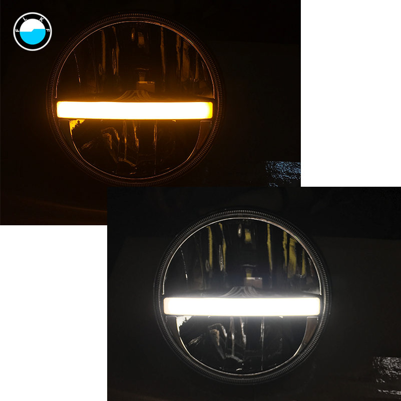 7 Inch LED Headlight DRL High Low Beam Turn Signal For Jeep Wrangler JK CJ