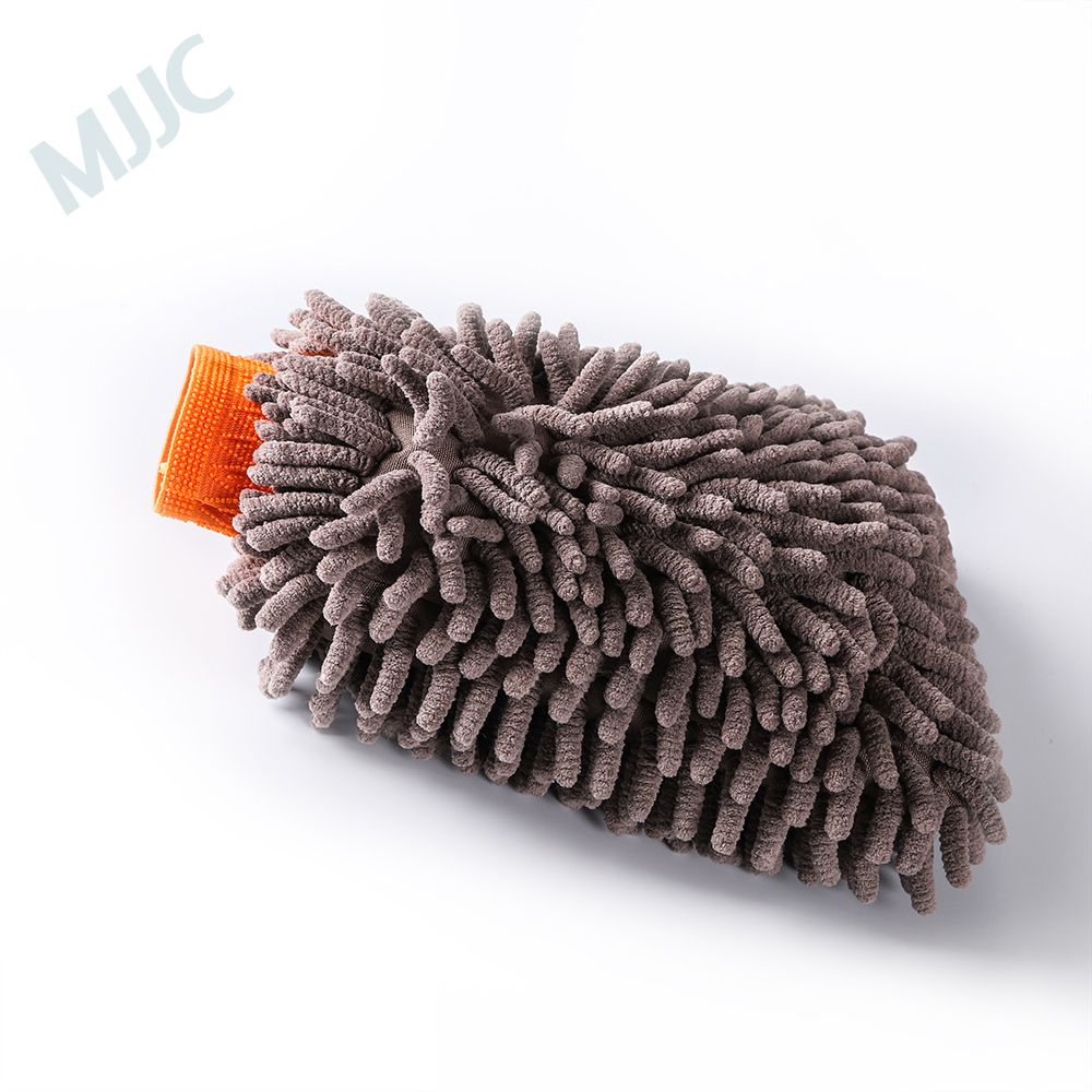 цена MJJC Soft Car Cleaning Glove Practical Super Microfiber Gloves Valeting Mitt Chenille Car Body Window Cleaning Wash Glove