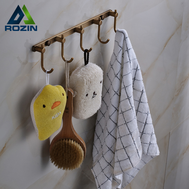 Free Shipping Multi Function Hook Kitchen Towel Hook Bathroom Accessories  Super Wall Hook Antique Brass