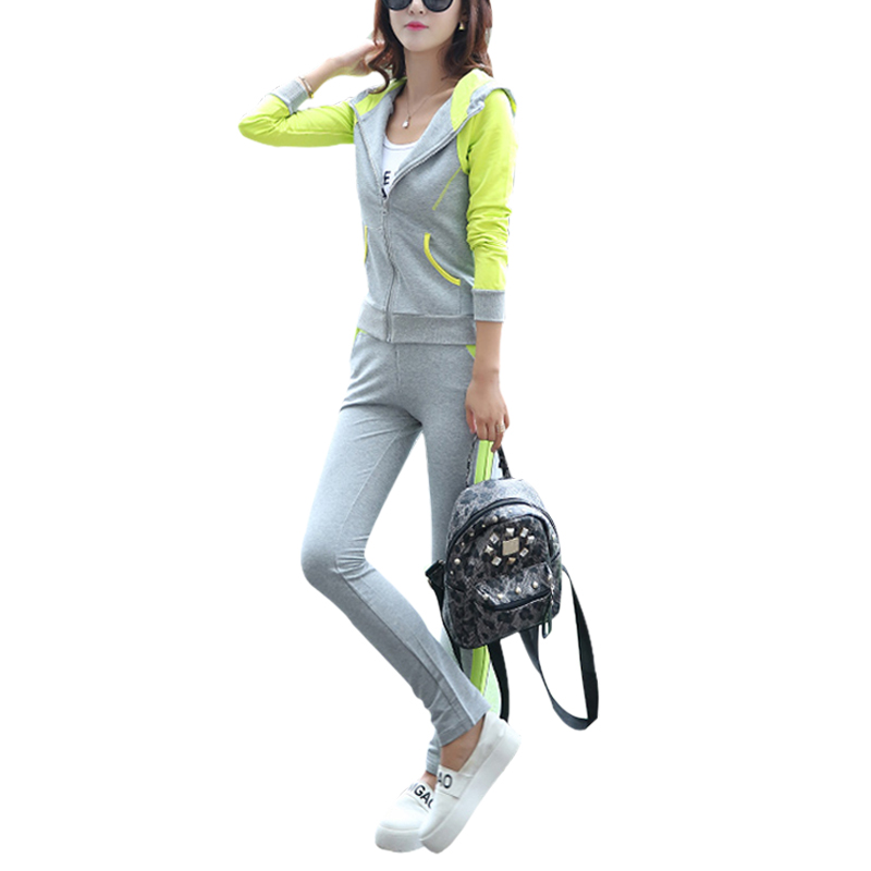 New Tracksuit Women 2 Piece Set Top And Pants Sportwear Plus Size 3xl Causal Clothing Women 39 S Hoodies Sweatshirt Sweat Suit in Women 39 s Sets from Women 39 s Clothing