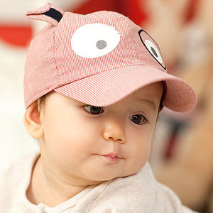 14917c59d6f79 2016 Spring Summer Baby Sun Hats Fine Stripe Dog Shaped Mesh Hat Caps for Children  Boys and Girls Designer Summer Hat for Boy
