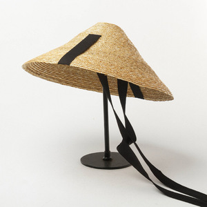 Image 4 - מופע חדש קיץ כובע חיצוני גדול אפס מקום שמש הגנה קש כובע עם שחור להקת עניבת נשים גברים קעור תקליטונים דרבי חוף כובע