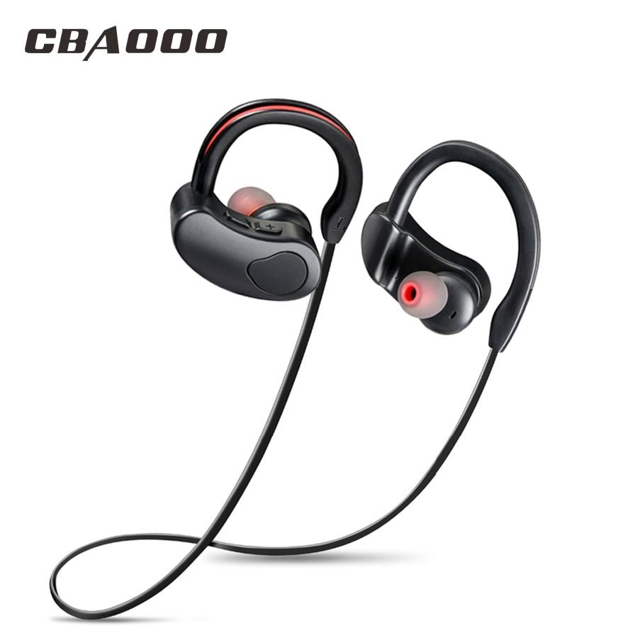 CBAOOO K100 bluetooth earphone Wireless bluetooth Headphone Sport Bluetooth Earphone Sweatproof earpods earphone with microphone pisen le004 bluetooth earphone