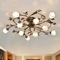Американский стиль гостиная гладить арт потолочный светильник ресторан bedroomg девушка освещение потолка магазин одежды Декор отеля ламп Под