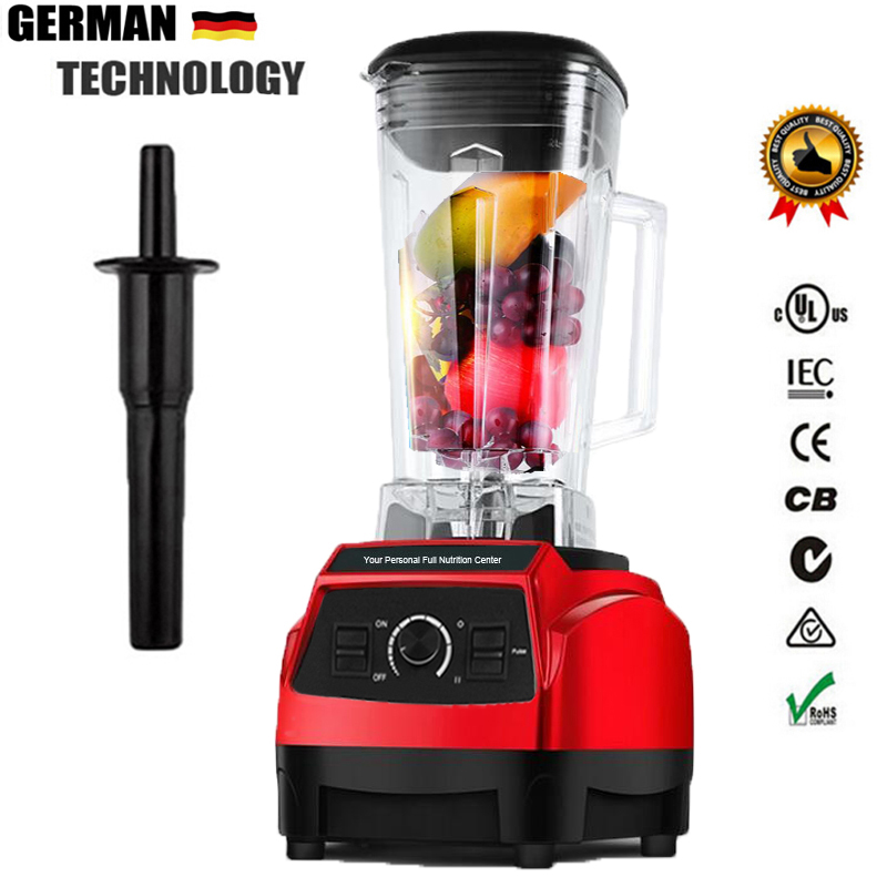 EU Plug 220V 3HP BPA FREE commercial grade home professional smoothies power blender food mixer juicer food fruit processor 2l heavy duty commercial grade juicer fruit blender mixer bpa 3 speed 2200w professional smoothies food mixer fruit processor