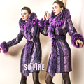 ROYALCAT Brand Down Jacket 2014 New Designer  Luxury Large Fur Lace Medium-long Down Coat High Quality 8395