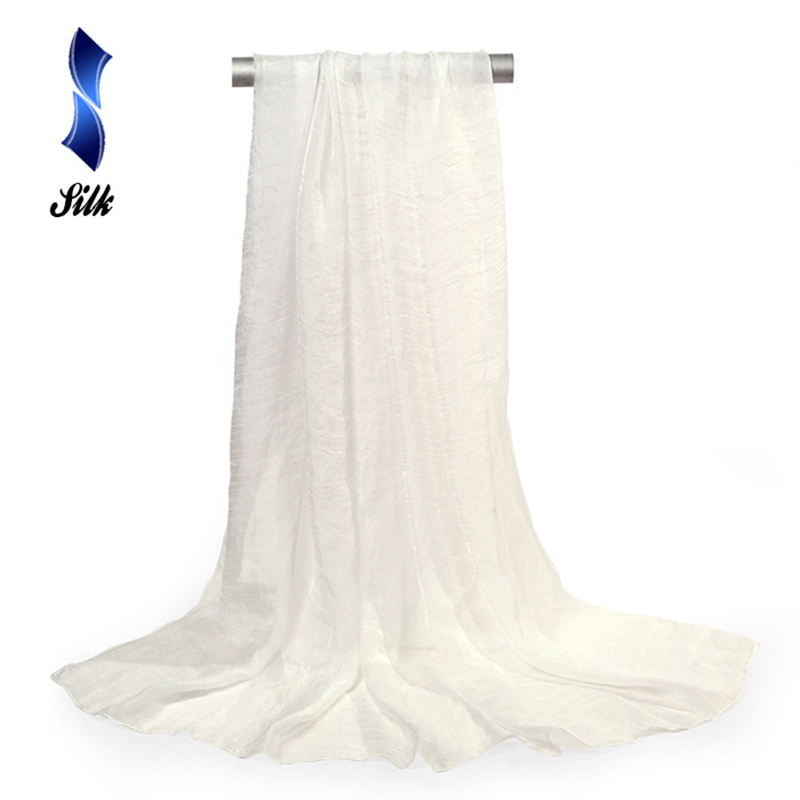 150*90cm solid white women plain bubble chiffon   scarf   hijab   wrap   printe solid shawls beach outdoor big silk   scarves   shawl female