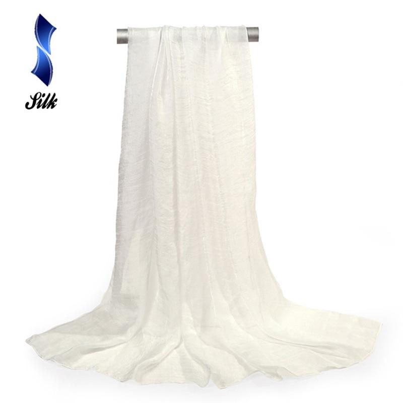 150*90cm solid white women plain bubble chiffon   scarf   hijab   wrap   printe solid shawls beach outdoor big silk   scarves   shawl female