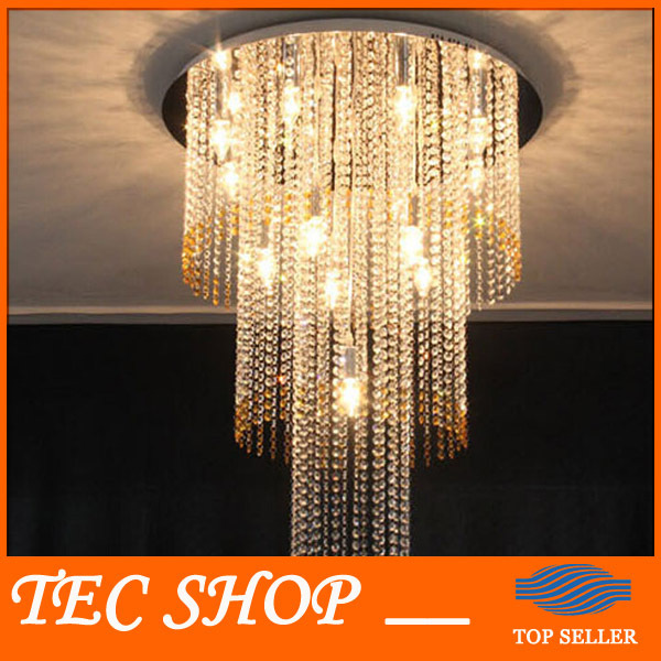 Best Price LED Luxury Villa K9 Crystal Duplex Staircase Chandelier Modern Crystal Lamp Hotel Lobby Engineering Lights Fixture best price 5pin cable for outdoor printer