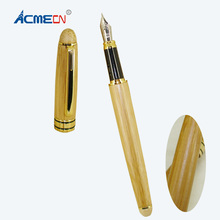 ACMECN Unique Design Fashion Liquid ink Pen Office & School Supplier eco-friendly Students with Pump Bamboo Fountain