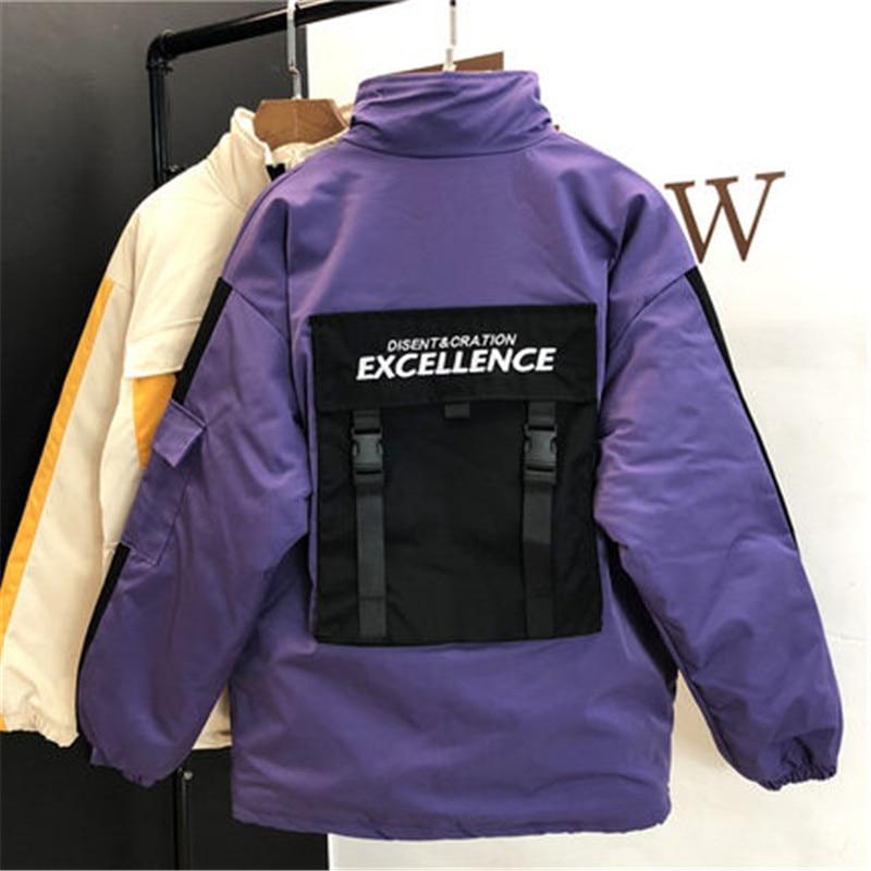 2018 New Autumn Winter Jackets Women Korean Couples Plus Cotton Padded Clothes Baseball Uniform BF Port Wind Tooling Coat X177