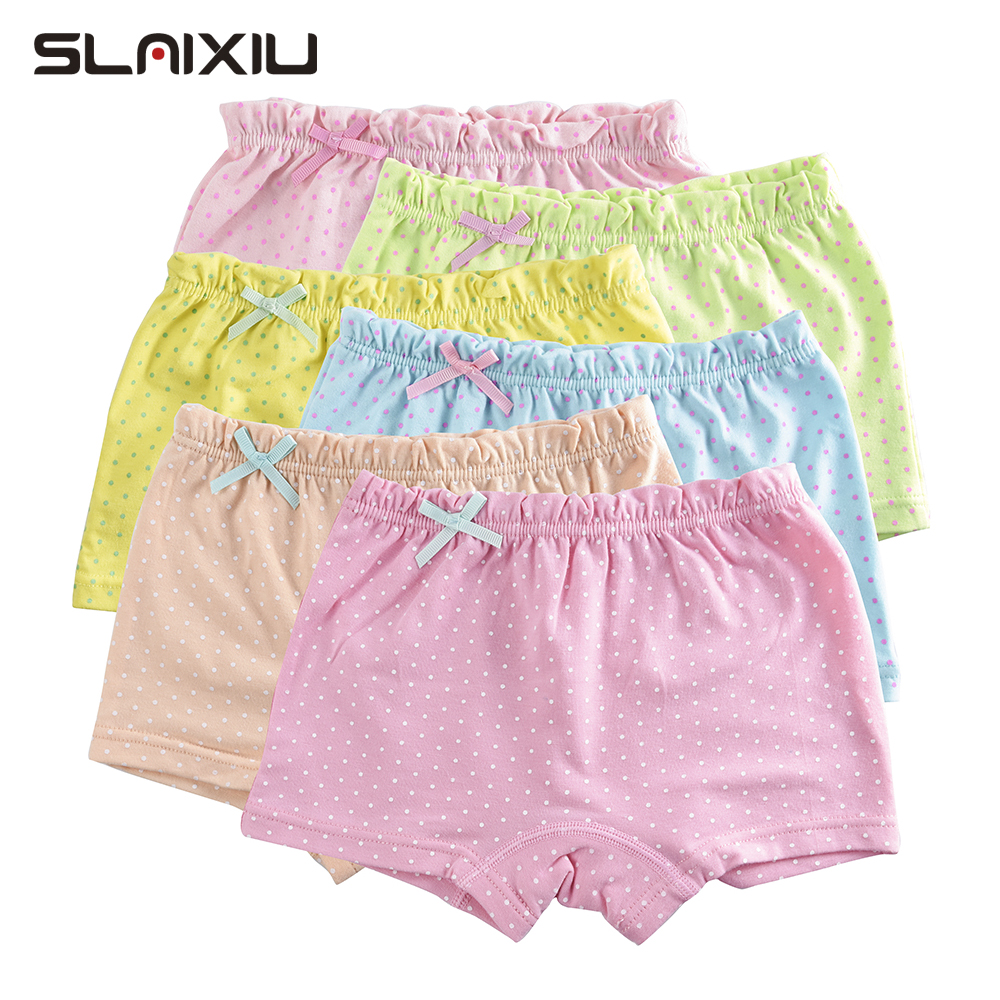 5Pcs/Lot Candy Dot Colors Girls Boxer Breathable Cotton Material Kids Girls Underwear For Baby Panties Children's Clothing