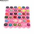 36 Pcs Glitter Gel Hexagon Sheet Nail Art UV Builder False Tips Set Mix Colors Women Manicure Tools Sets New