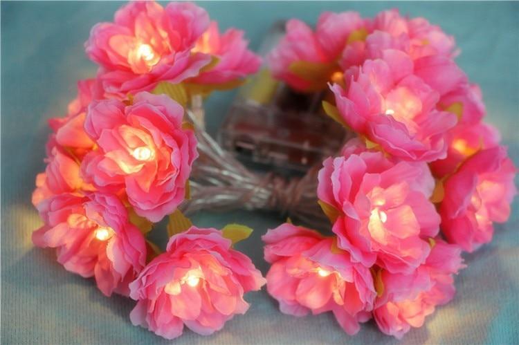 Nyhet 2M / 3M dekorative håndlagde blomsterfe String blomstrete - Ferie belysning - Bilde 2