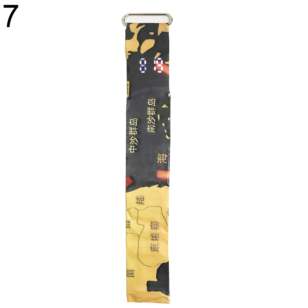 Креативный водонепроницаемый унисекс студенческий светодиодный светильник цифровой дисплей бумажные часы подарок - Цвет: 7