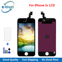 100 A Guarantee LCD Display For Iphone 5C Touch Screen Digitizer Assembly Tools Tempered Glass Screen