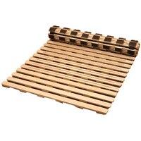 Японский Стиль твердая деревянная кровать Поддержка рейки для татами кровать Мебель для спальни 600/700/800/900 мм Размеры односпальная кровать Р
