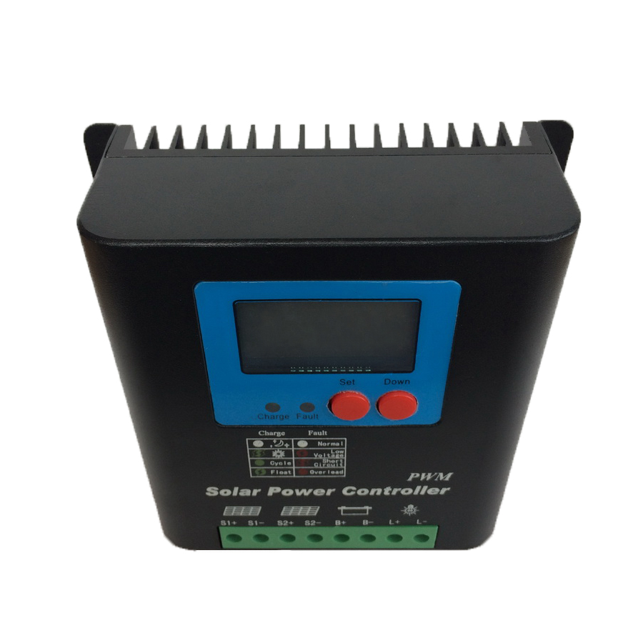 Solar system 60A 70A 80A 90A 100A 12V/24V Auto Solar Panel Battery Charge Controller PWM LCD Display Solar Collector