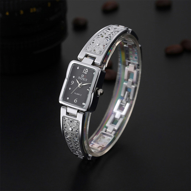 New Fashion Rhinestone Watches Women Luxury Stainless Steel Bracelet watches Ladies Quartz Dress Watches reloj mujer Clock 533