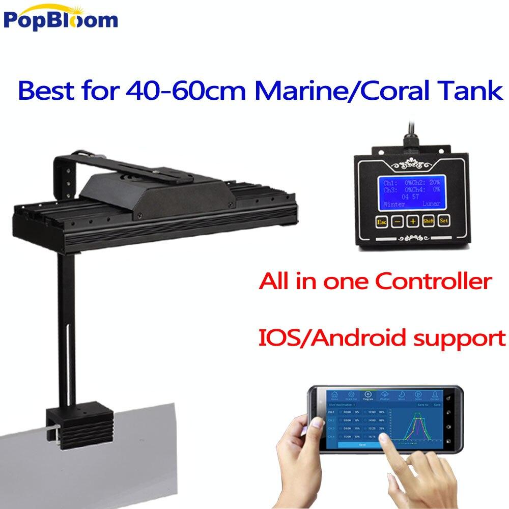 Программируемое таймерное затемнение Аквариум Led Lighting для кораллового рифа, морской резервуар, контроллер Wi Fi, интеллектуальные предустано