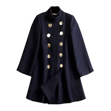 Korean Fashion Autumn and Winter Medium-long Womens Cape Coat Wool Outwear Batwing Sleeve Double Breasted Female Woolen Overcoat(China)