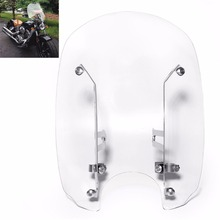 Motorcycle Clear Adjustable Windshield Windscreens Mounting Hardware For Indian Scout Models 2015-2016 Sixty 2016-2018 chrome steel driver backrest support for indian scout sixty 2016 2017 2018 scout sixty motorcycle