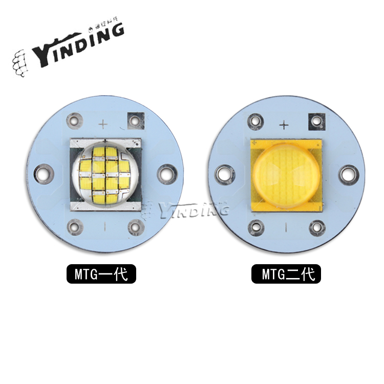 1pcs CREE MTG 6v Neutral white 5000k 25W High Power LED Emitter Blub Lamp Light LED Chip with 20MM PCB Heatsink