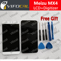 Meizu MX4 ЖК-Дисплей + Сенсорный Экран + Инструменты Высокого Качества Digitizer Замена Для Мобильного Телефона + Бесплатная Доставка-Черный Белый