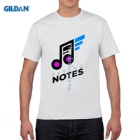GILDAN DIY Style Mens T Shirts MUSIC NOTES Design New Men S T Shirt Cotton Rock