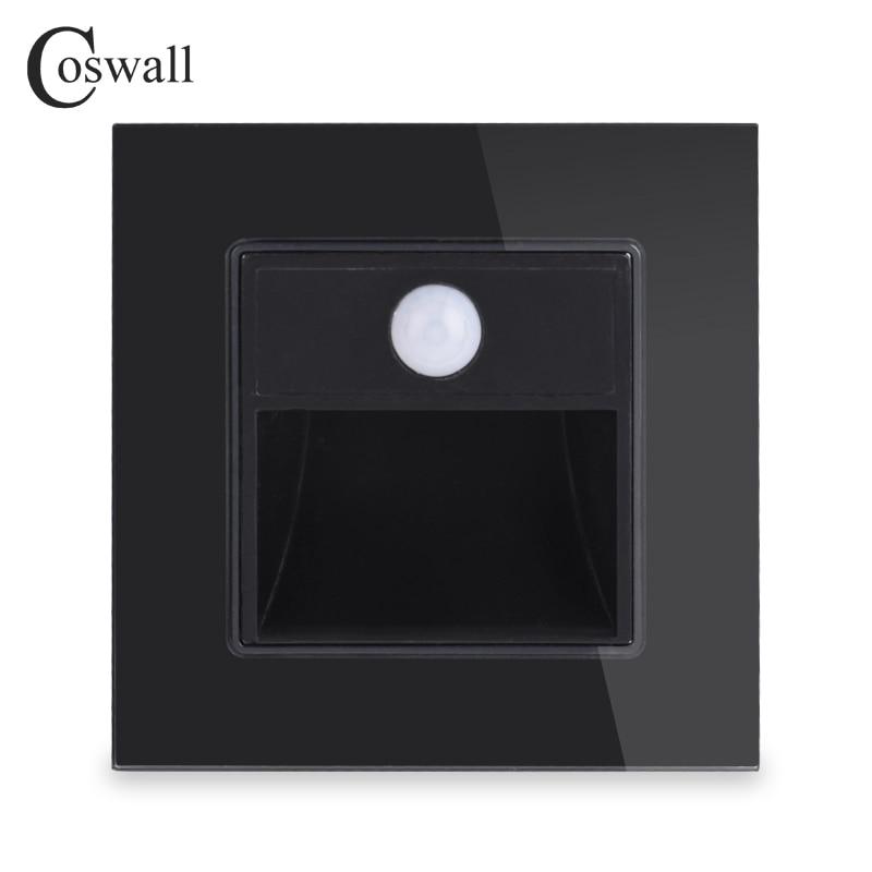 coswall nova chegada varanda corredor canto escada lampada de parede footlights interruptor corpo humano sensor lampada