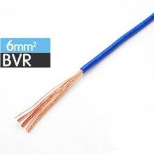 ZR BVR 6mm cable cuadrado multihilo para mejorar el hogar cableado de cobre CE y RoHS Conductor de alambre electrónico