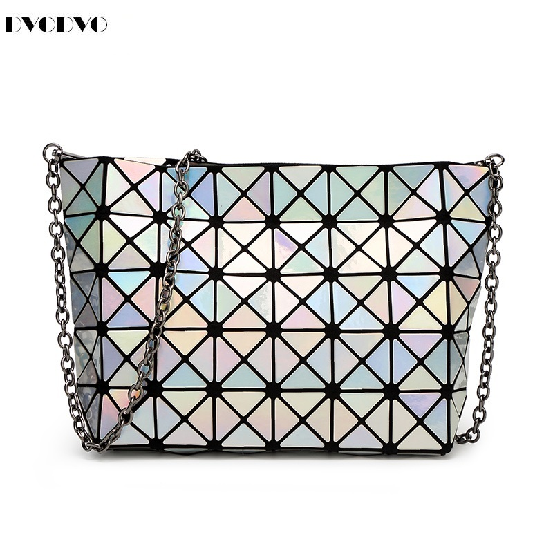 baobao Drawstring bag Female bag original single bag 5 * 8 laser chain aslant geometry package pearl single shoulder bag bao bao