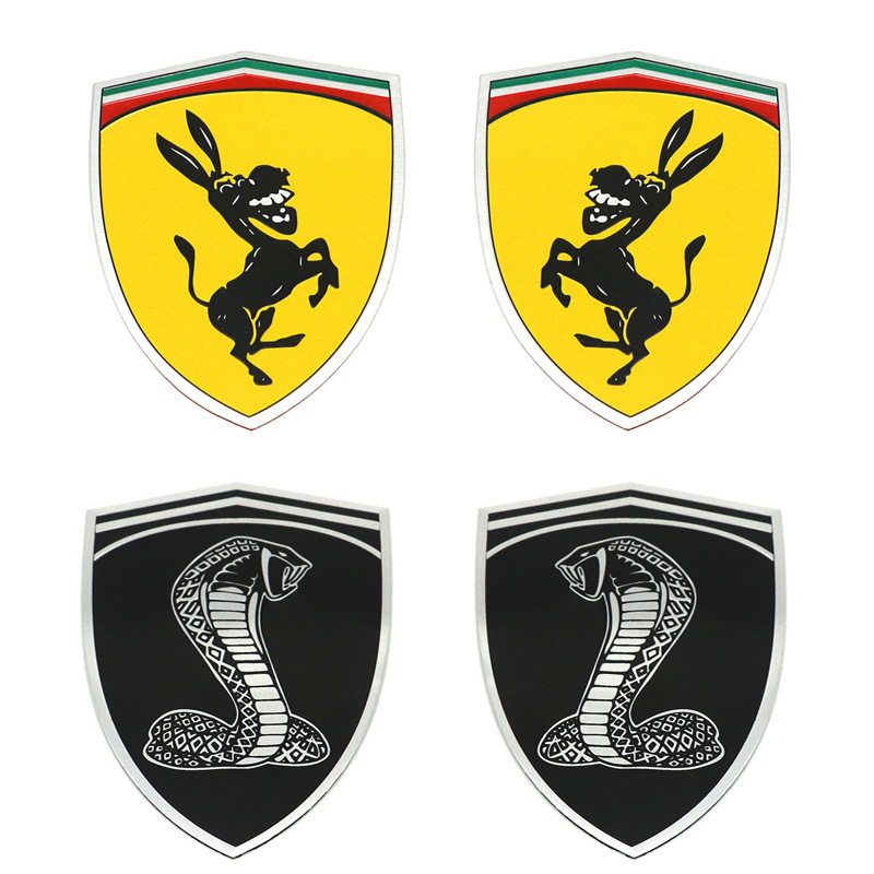3D Aluminum Cobra Donkey Car Window Bumper Body Sticker Emblem Decal Steering wheel sticker Car Styling For VW BMW Ford Mustang cobra snake emblem badge stickers car covers for ford shelby gt500 diameter 15 cm cobra styling 2015 new