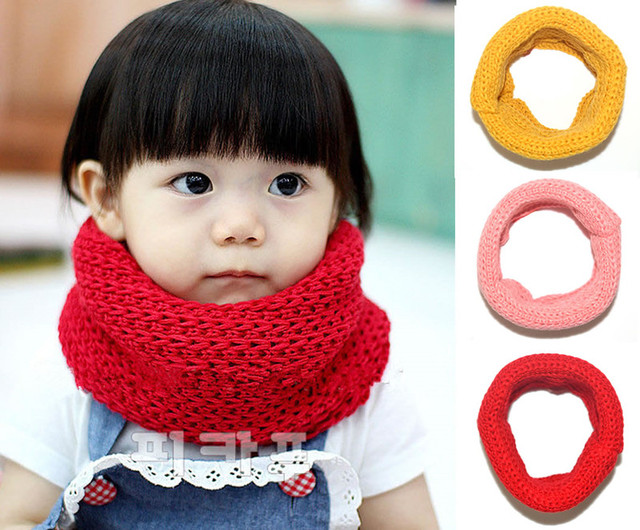 Knitting Loop Scarf : New toddler girl baby bebe warm spring loop scarf crochet