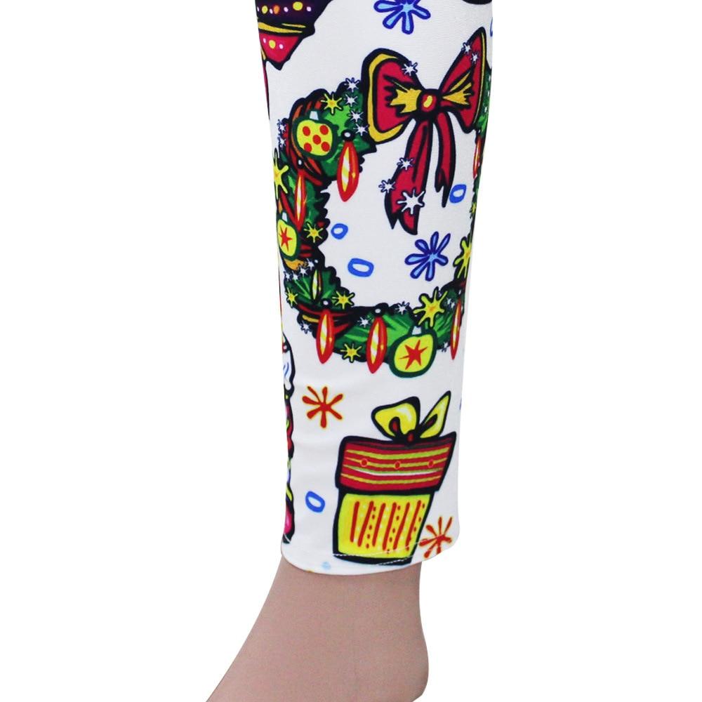 Colorful Digital Print Christmas Leggings