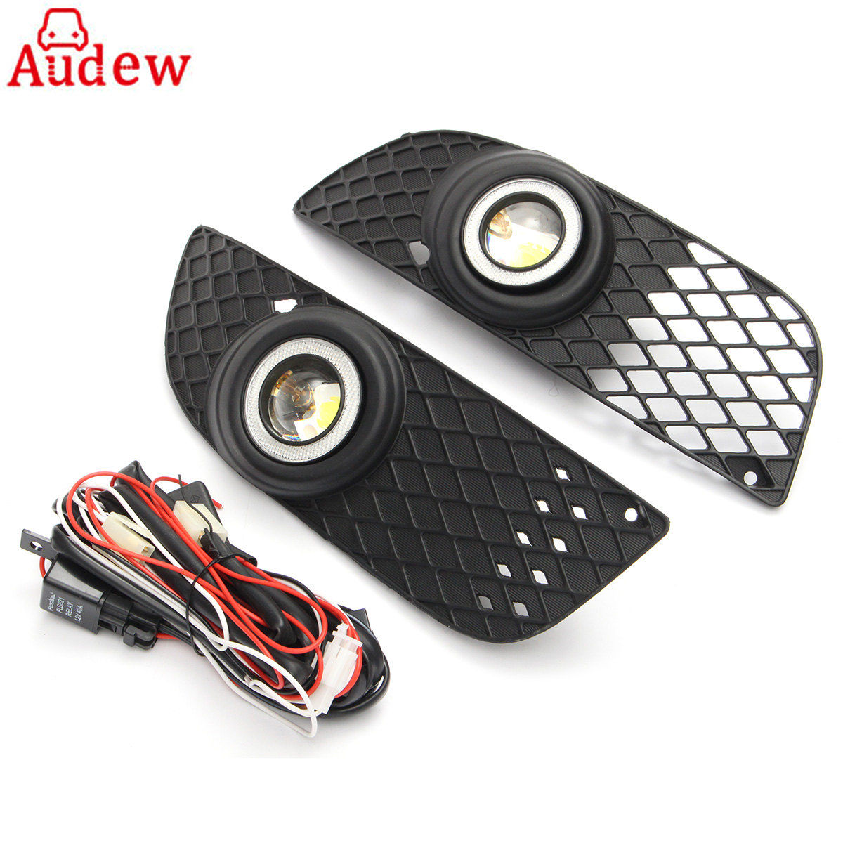 2Pcs Car Styling H3 Fog Lamp Fog Light Angel Eyes DRL Daytime Running Light  For Mitsubishi Lancer 2008-2014 fog lights for mitsubishi pajero sport 2008 2015 1 set 2 pcs car accessories styling car decoration automotive front light