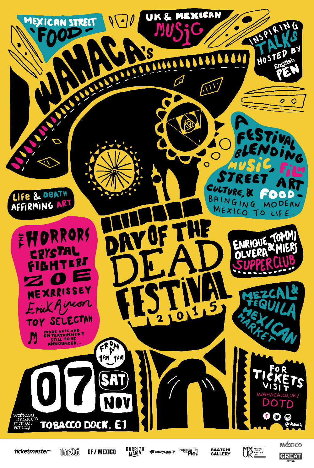Day Of The Dead Festival Music Class Propaganda Vintage Kraft ...