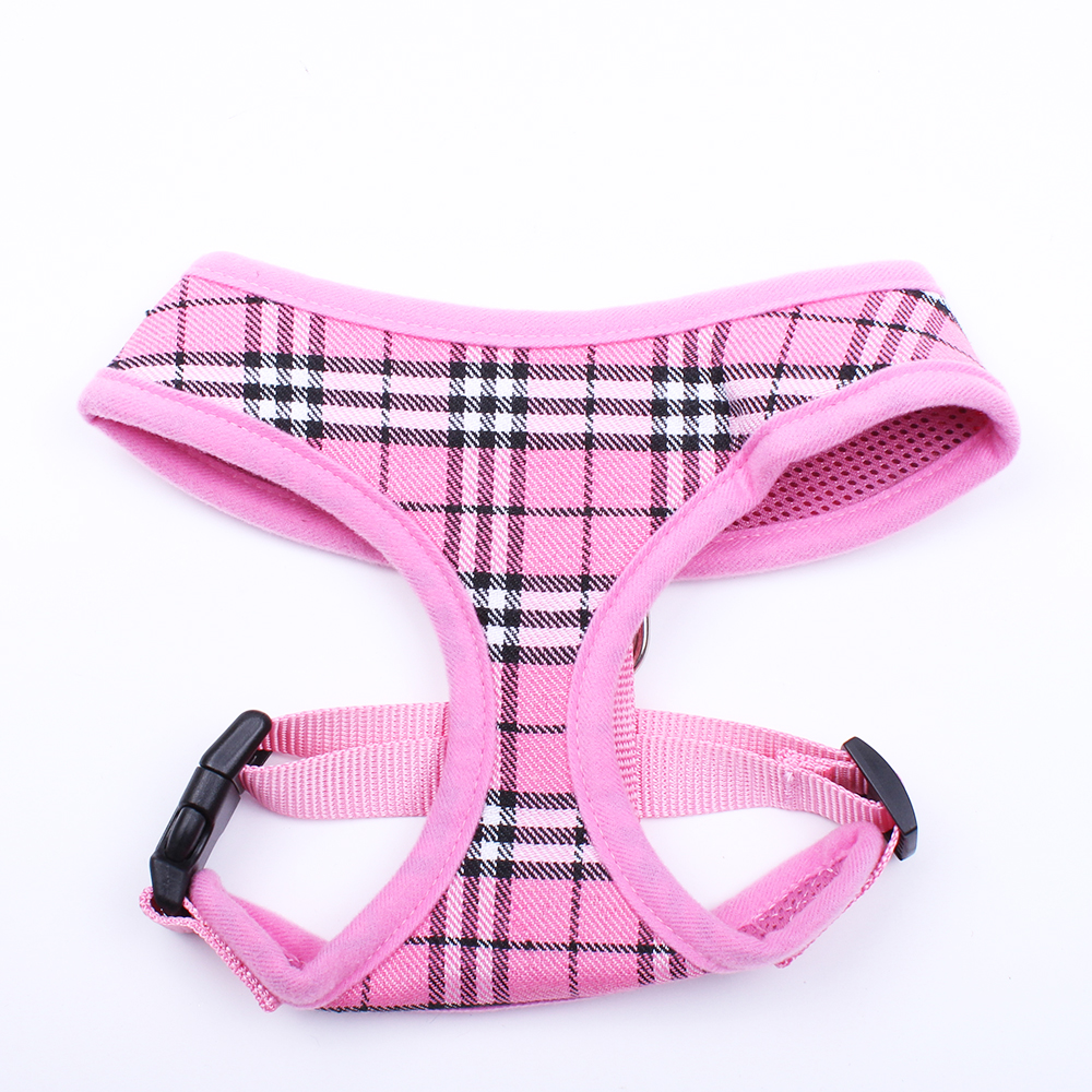 Hundkatt Plaid Control Harness Pet Valp Harness Soft Walk Collar 4 - Produkter för djur