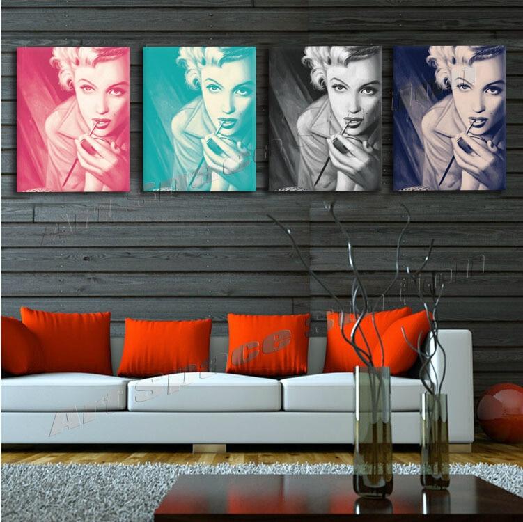 4 Panel Home Decor HD Print Portrait painting on canvas(No frame ...