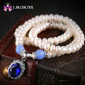 J.MOSUYA Natural Pearl Necklace For Women Freshwater Pearl Jewelry