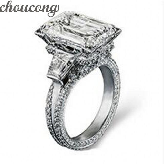 Dos homens Das Mulheres de Victoria Wieck Jóias 12ct Simulado diamante 300 pcs Cz 925 Sterling Silver Engagement Wedding Band Anel para mulheres