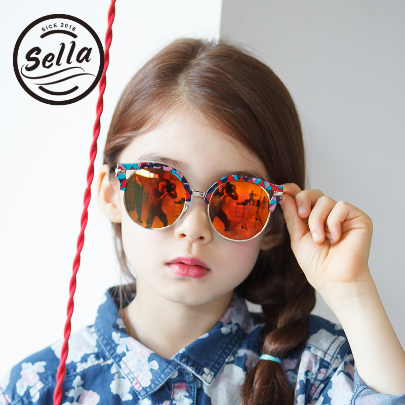 Sella High Quality Anti-Ultraviolet Childrens Sunglasses New Fashion Trend Cateye Kids Sun Glasses Boys Girls Summer UV400