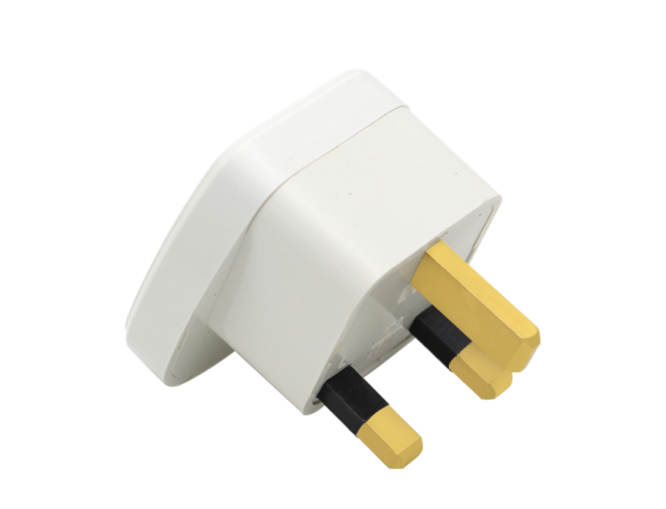 Universal EU US AU to UK AC Power Socket Plug Travel Charger Adapter Converter White ABS Electric Plugs For Mobile Phone Laptop (15)